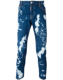 Dsquared2 - Skinny Bleached Jeans - Men - Cotton/polyester/spandex/elastane - 46 afbeelding