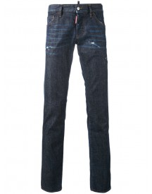 Dsquared2 - Slightly Distressed Jeans - Men - Cotton/leather/polyester/wool - 52 afbeelding
