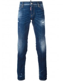 Dsquared2 - Slim Lightly Distressed Jeans - Men - Cotton/polyester/spandex/elastane - 44 afbeelding