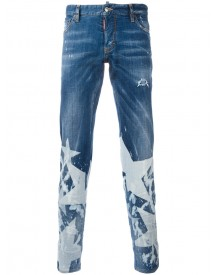 Dsquared2 - Star Print Jeans - Men - Cotton/polyester/spandex/elastane - 46 afbeelding