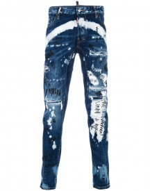 Dsquared2 - Tidy Biker Printed Jeans - Men - Cotton/polyester - 44 afbeelding