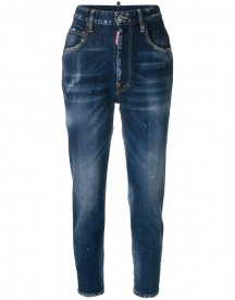 Dsquared2 - Twiggy Fit Jeans - Women - Cotton/calf Leather/polyester/spandex/elastane - 40 afbeelding
