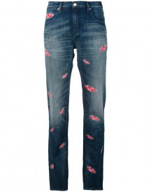Each X Other Other - Lips Print Boyfriend Jeans - Women - Cotton/spandex/elastane - 28 afbeelding