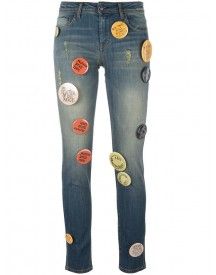 Each X Other Other - Pin Buttons Embellished Jeans - Women - Cotton/spandex/elastane - 26 afbeelding