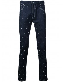 Education From Youngmachines - Stars Print Jeans - Men - Cotton/polyurethane - 1 afbeelding