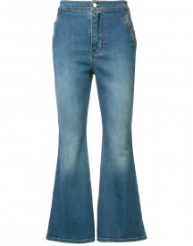 Ellery - Flared Cropped Jeans - Women - Cotton - 28 afbeelding