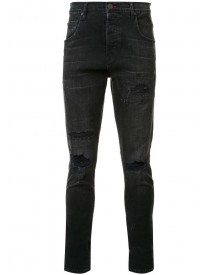 En Noir - Distressed Skinny Jeans - Men - Cotton/spandex/elastane - 32 afbeelding