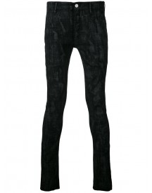 Fagassent - Coating Print Skinny Jeans - Men - Cotton/linen/flax - 3 afbeelding