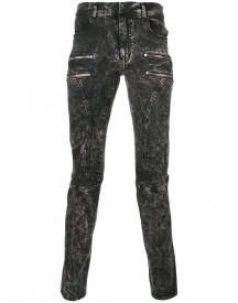 Faith Connexion - Bleached Effect Zipped Skinny Jeans - Men - Cotton/spandex/elastane - 31 afbeelding