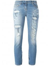 Faith Connexion - Distressed Cropped Jeans - Women - Cotton/spandex/elastane - 25 afbeelding