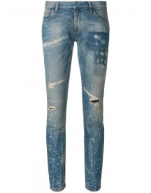 Faith Connexion - Distressed Low Cut Jeans - Women - Cotton/spandex/elastane - 25 afbeelding