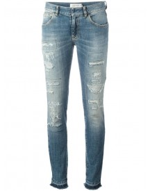 Faith Connexion - Distressed Skinny Jeans - Women - Cotton/spandex/elastane - 28 afbeelding