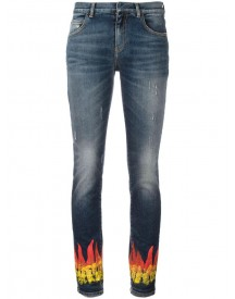 Faith Connexion - Flame Print Skinny Jeans - Women - Cotton/spandex/elastane - 28 afbeelding