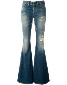 Faith Connexion - Used Effect Flared Jeans - Women - Cotton/spandex/elastane - 27 afbeelding
