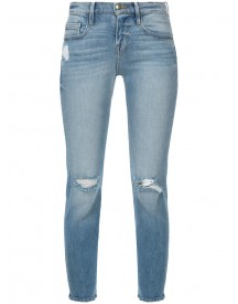 Frame Denim - Cropped Distressed Skinny Jeans - Women - Cotton - 23 afbeelding