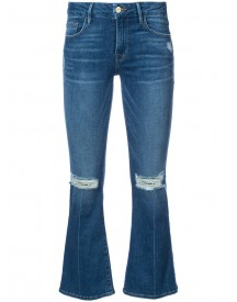 Frame Denim - Cropped Flared Jeans - Women - Cotton/spandex/elastane/other Fibers - 28 afbeelding