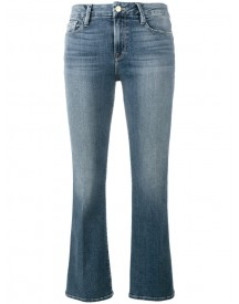 Frame Denim - Flared Cropped Jeans - Women - Cotton/polyester/spandex/elastane/tencel - 24 afbeelding