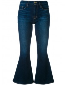 Frame Denim - Flared Cropped Jeans - Women - Cotton/spandex/elastane - 28 afbeelding
