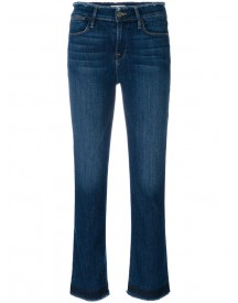 Frame Denim - High Waisted Frayed Jeans - Women - Cotton/polyester/spandex/elastane - 24 afbeelding