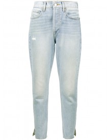 Frame Denim - Le Original Pale Blue High Waisted Straight Leg Jeans - Women - Cotton - 25 afbeelding