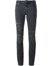 Givenchy - Distressed Skinny Jeans - Women - Cotton - 38 afbeelding