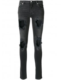 Givenchy - Jeans With Worn Effect - Women - Cotton/polyester/spandex/elastane - 38 afbeelding