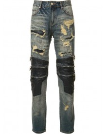God's Masterful Children - Zipped Ripped Skinny Jeans - Men - Cotton/polyester - 40 afbeelding