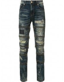 God's Masterful Children - Zipped Ripped Skinny Jeans - Men - Cotton/polyester - 42 afbeelding