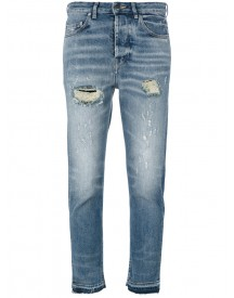 Golden Goose Deluxe Brand - Distressed Cropped Jeans - Women - Cotton/spandex/elastane - 26 afbeelding
