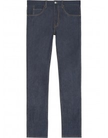 Gucci - Stretch Denim Slim Pant With Tiger - Men - Cotton/spandex/elastane - 31 afbeelding