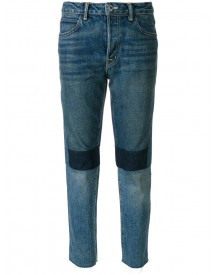 Helmut Lang - Patchwork High Rise Jeans - Women - Cotton/polyester - 25 afbeelding