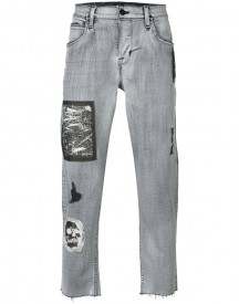 Hudson - Patches Cropped Tapered Jeans - Men - Cotton/polyester/spandex/elastane - 31 afbeelding