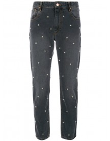 Isabel Marant Étoile - Pearl Detailed Jeans - Women - Cotton/zamak - 42 afbeelding