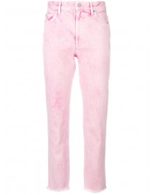 Isabel Marant Étoile - Raw Hem Washed Pink Mid Rise Cropped Jeans - Women - Cotton - 34 afbeelding