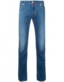 Jacob Cohen - Folded Hem Tapered Jeans - Men - Cotton/polyester/spandex/elastane - 31 afbeelding