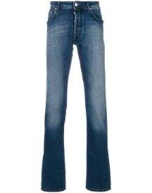 Jacob Cohen - Stonewashed Slim Jeans - Men - Cotton/polyester/spandex/elastane - 42 afbeelding
