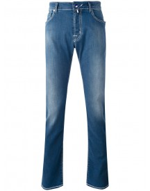 Jacob Cohen - Washed Straight Jeans - Men - Cotton/polyester/spandex/elastane - 35 afbeelding