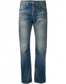 Junya Watanabe Comme Des Garçons - Boyfriend Jeans - Women - Cotton/leather - M afbeelding