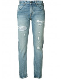 Levi's - Distressed High-rise Jeans - Women - Cotton - 24 afbeelding