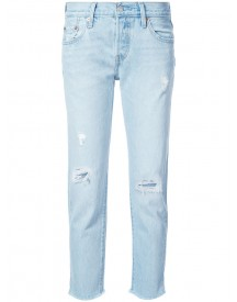 Levi's - Distressed Straight Jeans - Women - Cotton - 29 afbeelding