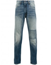 Levi's Vintage Clothing - Patchwork Detail Tapered Jeans - Men - Cotton - 33 afbeelding