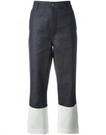 Loewe - Colour Block Denim Pants - Women - Cotton - 40 afbeelding