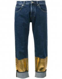 Loewe - Contrast Panel Boyfriend Jeans - Women - Cotton - 36 afbeelding