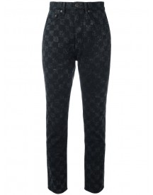 Marc Jacobs - Checker Print Flood Stovepipe Jeans - Women - Cotton - 26 afbeelding