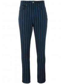 Marc Jacobs - Stripe Flood Stovepipe Jeans - Women - Cotton - 27 afbeelding