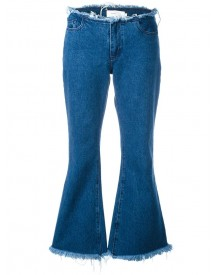 Marques'almeida - Frayed Flared Jeans - Women - Cotton - 8 afbeelding