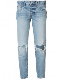 Moussy - Distressed Cropped Jeans - Women - Cotton - 30 afbeelding