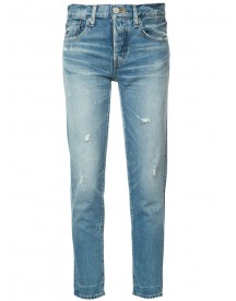 Moussy - Tapered Cropped Jeans - Women - Cotton - 31 afbeelding