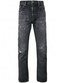 Neighborhood - Ripped Knees Tapered Jeans - Men - Cotton - S afbeelding