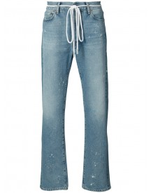 Off-white - Baggy Distressed Jeans - Men - Cotton/wool/polyacrylic - 33 afbeelding